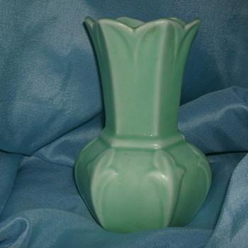 Fluted Matte Glaze Vase - Pottery
