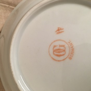 German fruit bowl set - China and Dinnerware