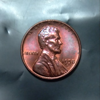 Toned huh1958 D wheat penn - US Coins