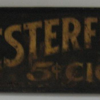 Chesterfield $.05 Cigar Sign - Tobacciana