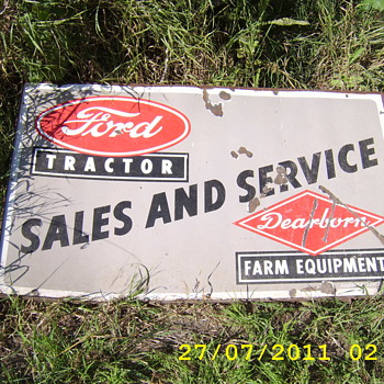 ford tractor dealer sign - Advertising