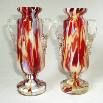 Welz Trophy Vases and Smaller Vase - Art Glass