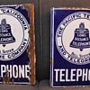 Pair of '08 pattern California TELEPHONE signs