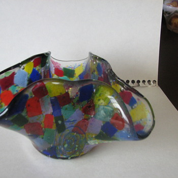 Colorful plate or vase or wherever - Art Glass