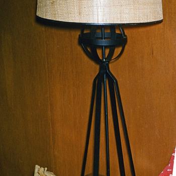 Wrought Iron 1950's Lamp