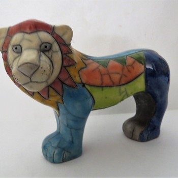 South African Pottery Lion - Pottery