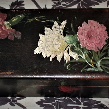 Hand Painted Glove Box Early 1900s - Accessories
