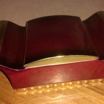 """Made in England """"Rouge Royal"""" dressing table lidded trinket box in deep rich colours. - China and Dinnerware"""