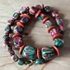 Swirly glass bead necklace