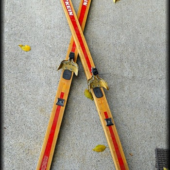 Old ??  Wooden Skis - Made in Norway - Sporting Goods