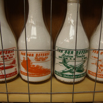 **FOR OUR DEFENSE**War Slogan Series Milk Bottles - Bottles