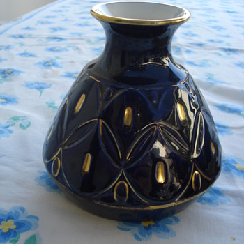 Fritz Klee Porcelain Gilded Vase Hutschenreuther Selb - Pottery