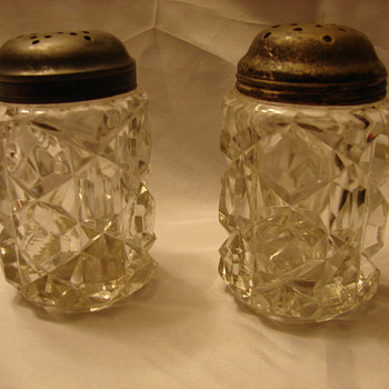 2 Very Heavy Glass Shakers. - Glassware