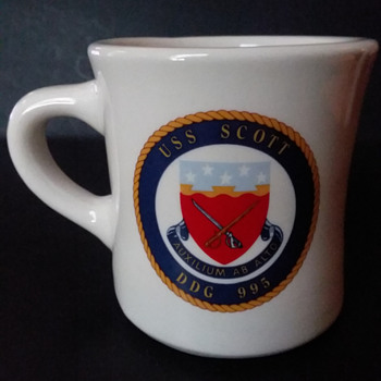 USS Scott diner mug - Military and Wartime