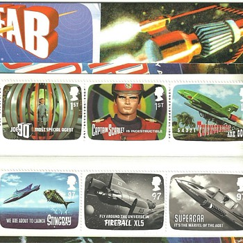 GERRY ANDERSON STAMPS (THUNDERBIRDS)