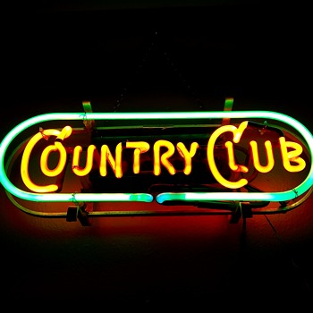 Old country club neon window sign - Breweriana