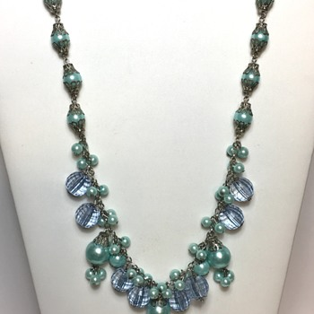 Lovely Blue Necklace  - Costume Jewelry