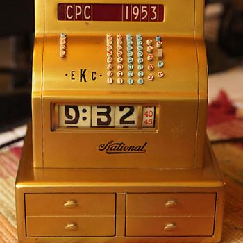 1953 NCR Sales Quota Award Clock - Art Deco