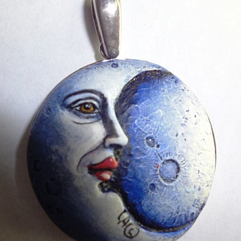 Special Silver Moon pendant signed CA©