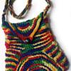Original Unused 1960's Psychedelic Hippie Crochet Purse