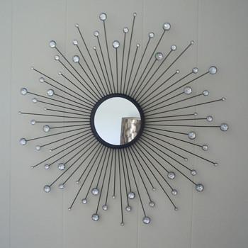 Mid Century Starburst Wall Mirror. - Mid-Century Modern