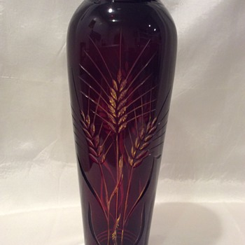 Ruby cut to amber vase - is it Bohemian? - Art Glass