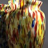 Pair of Kralik spatter glass vases