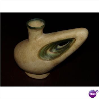 Pottery Sculpture Carrafe? Signature Unknown