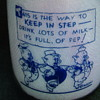 VANDERVOORT'S DAIRY...FT. WORTH TEXAS...DISNEY MILK BOTTLE