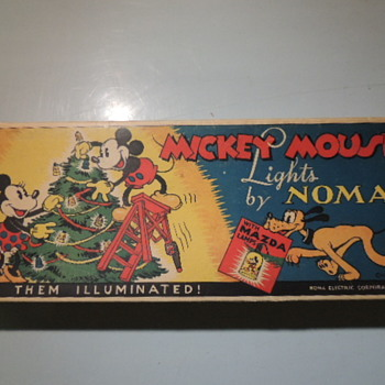 1935 MICKEY MOUSE XMAS LIGHTS BY NOMA - Christmas
