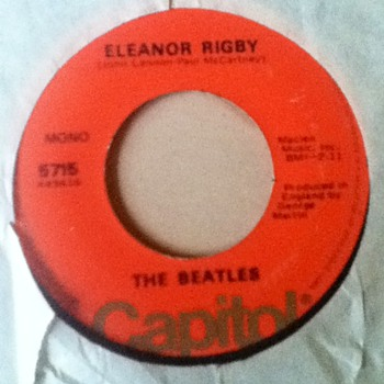 "The Beatles - ""Eleanor Rigby"" & ""Yellow Submarine"" 45 Record - Records"
