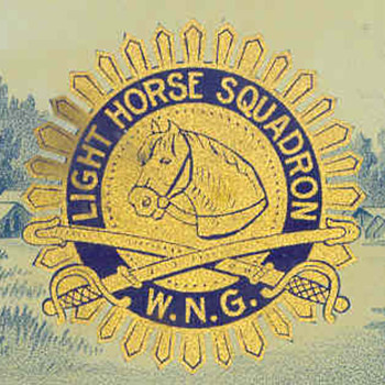 LIGHT HORSE SQUADRON CIGAR (box opener) - Military and Wartime