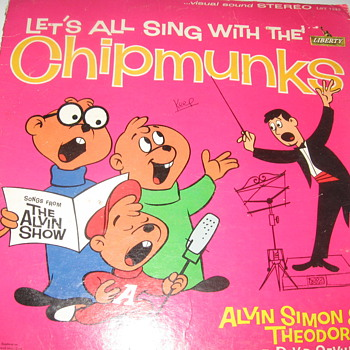 LET'S ALL SING WITH THE CHIPMUNKS 1961  - Records