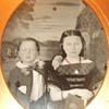 Cute siblings tintype