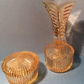 Vintage czech 2 piece set