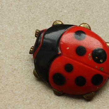 Ladybug brooch - Costume Jewelry