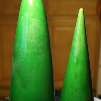 Two Awaji Wall Pockets - one very large one. - Pottery