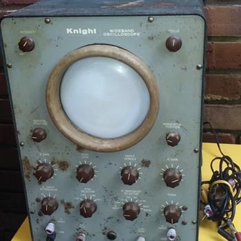 old KNIGHT WIDEBAND OSCILLOSCOPE - Electronics