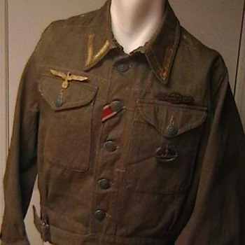 WW II British Battle Blouse Converted for Kriegsmarine U Boat Use - Military and Wartime