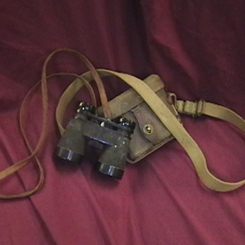 WW II Japanese Binoculars and Carrying Case - Military and Wartime