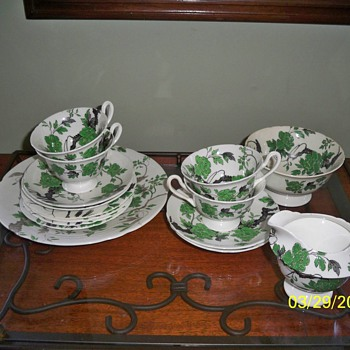 Chippendale Pattern / Shelley China Dessert Set - China and Dinnerware