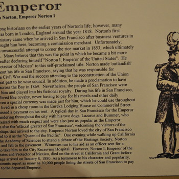Emperor Norton's Nuttiness - Posters and Prints