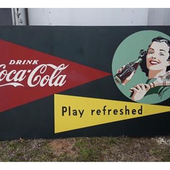Large Coca Cola wooden signs - Coca-Cola