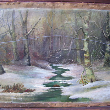 ANTIQUE oil painting by J. FREDRIK - Fine Art