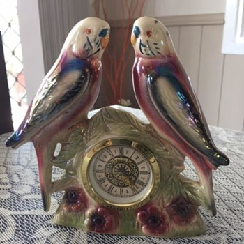 Jema Holland Small Twin Budgie Clocks numbered (413)