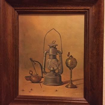 Mid Century Lantern Print - Lamps