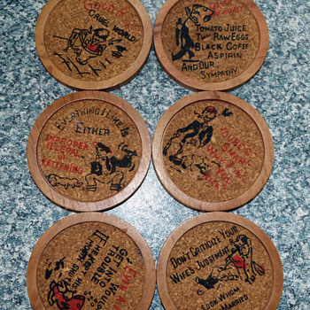 Quirky 1950's coasters