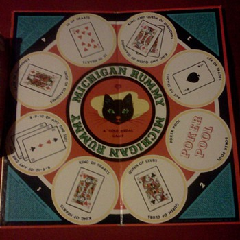 1960 transogram Michigan Rummy/checkers - Games