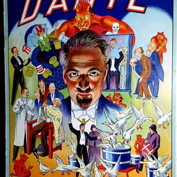 "Original 1931 ""Dante The Magician"" Italian Program"