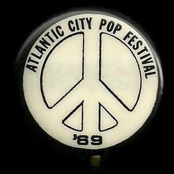 Atlantic City Pop Festival 1969 Pinback Button - Medals Pins and Badges